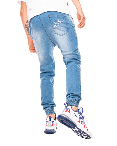 Spodnie Jeans Jogger 3maj Fason Star Niebieskie