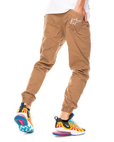 Spodnie Materiałowe Jogger 3maj Fason Star Miodowe