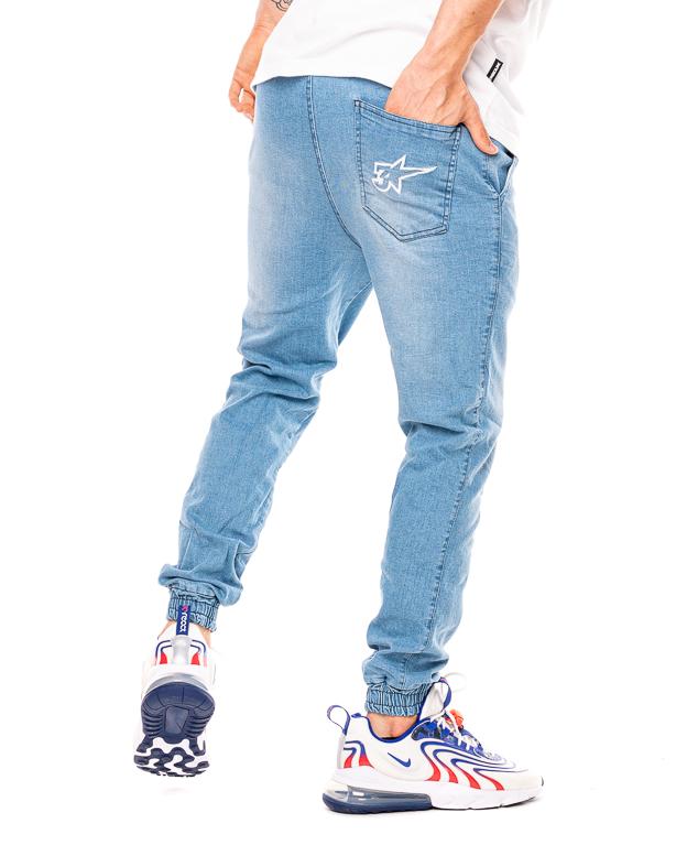 Spodnie Jeans Jogger 3maj Fason Star Jasnoniebieskie