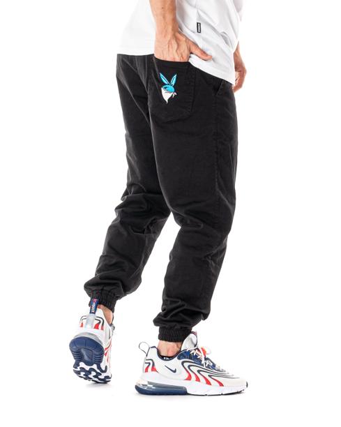 Spodnie Materiałowe Jogger 3maj Fason Bunny Czarne
